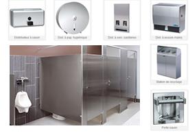 Cloisons de toilettes et accessoires salle de bain